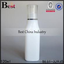 Botella de cristal del aceite esencial de 4oz envase del champú de la porcelana de la forma cuadrada 120ml