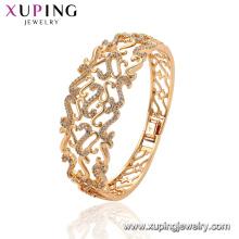 52167 xuping mulheres 18k banhado a ouro pulseiras de cobre ambientais