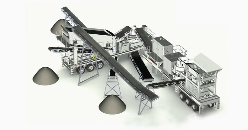 wheeled impact crusher plant