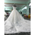 robe de festa de mariage dres super puffy 3D fleurs profondes v-cou robes de mariée sans manches 2017