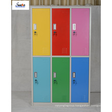 Different color metal 6 doors locker cabinet storage for students use