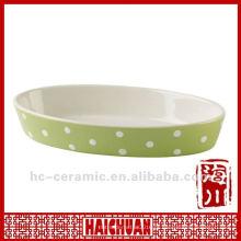 Panela de bolo cerâmica oval, panela de pizza oval
