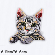 Cute Cat Patches Parche de bordado 3D de alta calidad