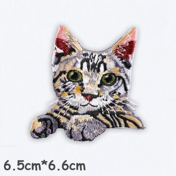 Niedliche Katzenpatches Hochwertiger 3D-Stickpatch