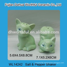 Ceramic fox salt & pepper shaker set