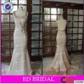 ED Bridal Sexy Beaded Straps Open Back Satin Mermaid Alibaba Evening Dress 2017