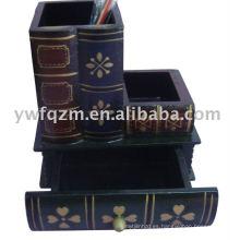 Portalápices decorativo (libro antiguo)