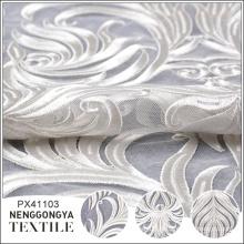 Designer en gros partie tulle français broderie dentelle tissu blanc