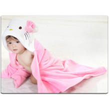 Super Soft Newborn Baby Flannel Blanket / Formes animales Trousse stéréoscopique 3D / Kitty and Rabbit