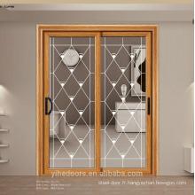 Porte coulissante en verre supérieure en aluminium / porte coulissante en verre de balcon