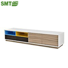 Modern fashion wood TV stand with 2 cubes