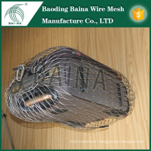 2015 alibaba china manufacture flexible rope mesh for anti-theft bag metal mesh bag