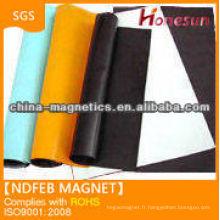 tapis de caoutchouc magnétique souple aimant en rouleau