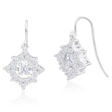 Fashion Dancing Diamond Jewelry 925 Silver Stud Earring Wholesales