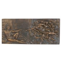 Relief Messingstatue Mythos Fairy Relievo Deco Bronze Skulptur Tpy-837