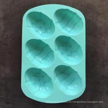 Molde creativo de la torta del pan del huevo del dinosaurio del silicón
