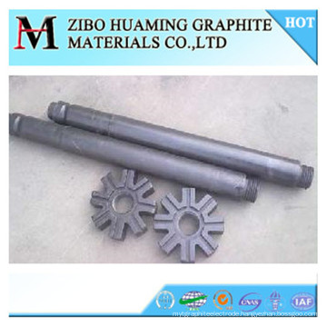 graphite rotor with high carbon content