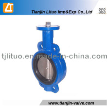 DIN ANSI JIS Cast Iron Wafer Butterfly Valve Pn16 150lb 10k