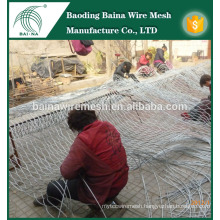 Flexible Stainless Steel Wire Rope Mesh of china supplier/Steel Rope Wire Mesh/Hand-Woven Stainless Steel Wire Rope Mesh
