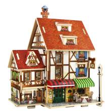 Juguetes de coleccionables de madera para casas globales-France Cafe