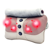 Electric Car and Home Neck Back Whole Body Kneading Heating Shiatsu Massage Pillow