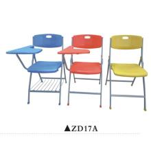 Silla plegable de plástico silla de oficina silla de oficina con tablero de escritura
