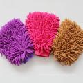 Wholesale custom microfiber chenille cleaning glove in car/automobile wash mitt/glove