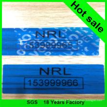 Ruban adhésif de sécurité de couleur bleue
