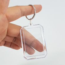 Fast Delivery for Acrylic Keychain,Led Light Keyring,Chrome Metal Keychain,Promotional Keychain Manufacturer in China Square Clear Acrylic Plastic Photo Frame Holder Keychain export to Virgin Islands (British) Wholesale