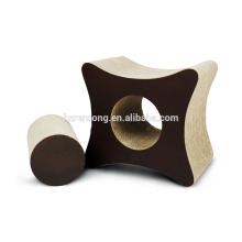 Scratcher mignon de chat de carton qui respecte l'environnement, carton de salon d'éraflure de chat de pied CT-4048