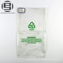Effacer les sacs d'emballage plat pe plié en gros
