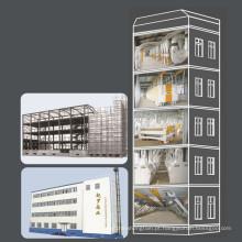 Fábrica De Trituração De Farinha De Trigo Com Oficina De Estrutura De Aço