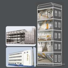 Мельничный завод по производству пшеничной муки со стальной конструкцией