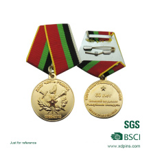 Custom Metal Gold Sports Medal with Ribbon (xd-0832)