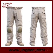Calças de combate tático airsoft geração 2 com calças de almofada de joelho