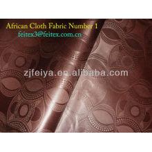 Новый Дамасской Жаккардовые Гвинея Brocade Оптовая Африканские Ткани Одежды Полиэстер