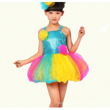 New arrival top quality red children sequin dress girls kids sequin dress girls