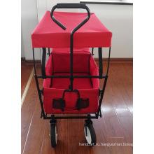 Складной вагон для детей с навесом