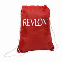 Nylon drawstring bag with printing