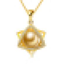 Collar colgante en forma de estrella con perlas naturales para mujer