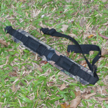 Neoprene Rifle Sling with cartridges