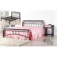 Günstige moderne einfache Schlafzimmer / Wohnmöbel Malerei Stahl Bett (B-302 #)