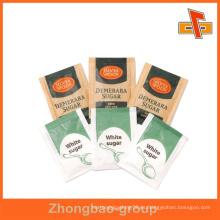 Sachet de papel impreso personalizado para embalaje de azúcar