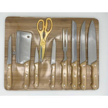 10pcs kitchen kinfe board set