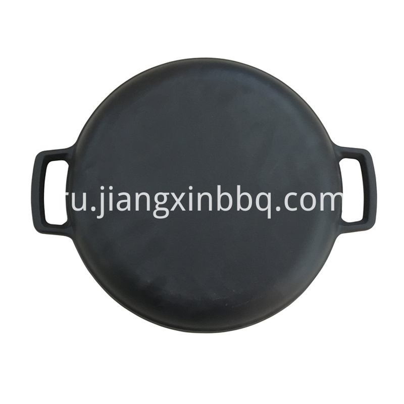 Cast Iron Round Plate Back View