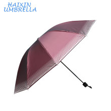 China Manufactory ODM Different Suppliers To Nepal India Market Wholesale Cheap Lattice Colored SUN Brand 3 Folding Umbrella