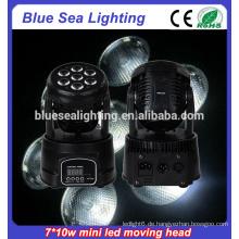 Verwendet 7pcs 10w rgbw 4in1dmx512 bewegliche Hauptlicht