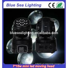 Usado 7pcs 10w rgbw 4in1dmx512 movendo cabeça luz