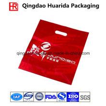 Bolso del portador de las compras del LDPE / impresión en color bolso cortado con tintas de la manija