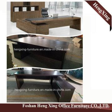 (HX-5D118) Black Walnut Executive Office Desk Modern Melamine Office Furniture